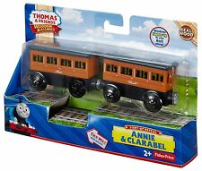 Thomas & Friends WOODEN RAILWAY Train Annie Clarabel Reveal 100% Authentic Wood