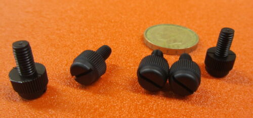 "13//32/"" Head Dia Nylon Black Plastic Thumb Screw 10-32 x 3//8/"" Length 100 Pc"