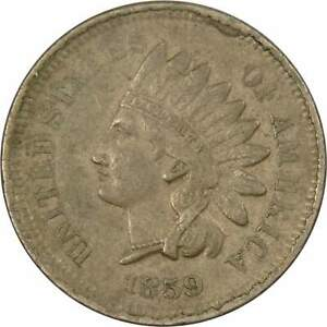 1859 Indian Head Cent XF EF Extremely Fine Copper-Nickel Penny 1c Coin