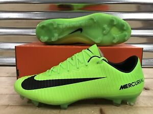 91fea51be Nike Mercurial Vapor XI FG ACC Soccer Cleats Electric Green SZ ...