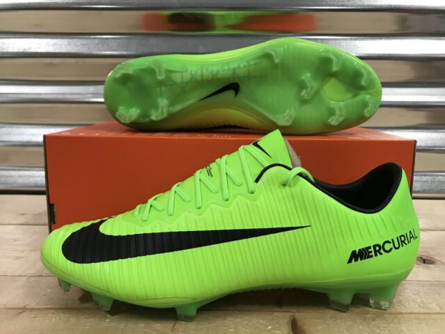 buy online 5199b ad908 Nike Mercurial Vapor XI FG ACC Soccer Cleats Electric Green SZ ( 831958-303  )