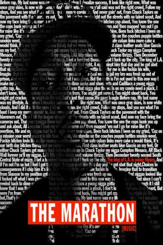 F-29 Nipsey Hussle The Marathon Continues Rapper Music Album Poster