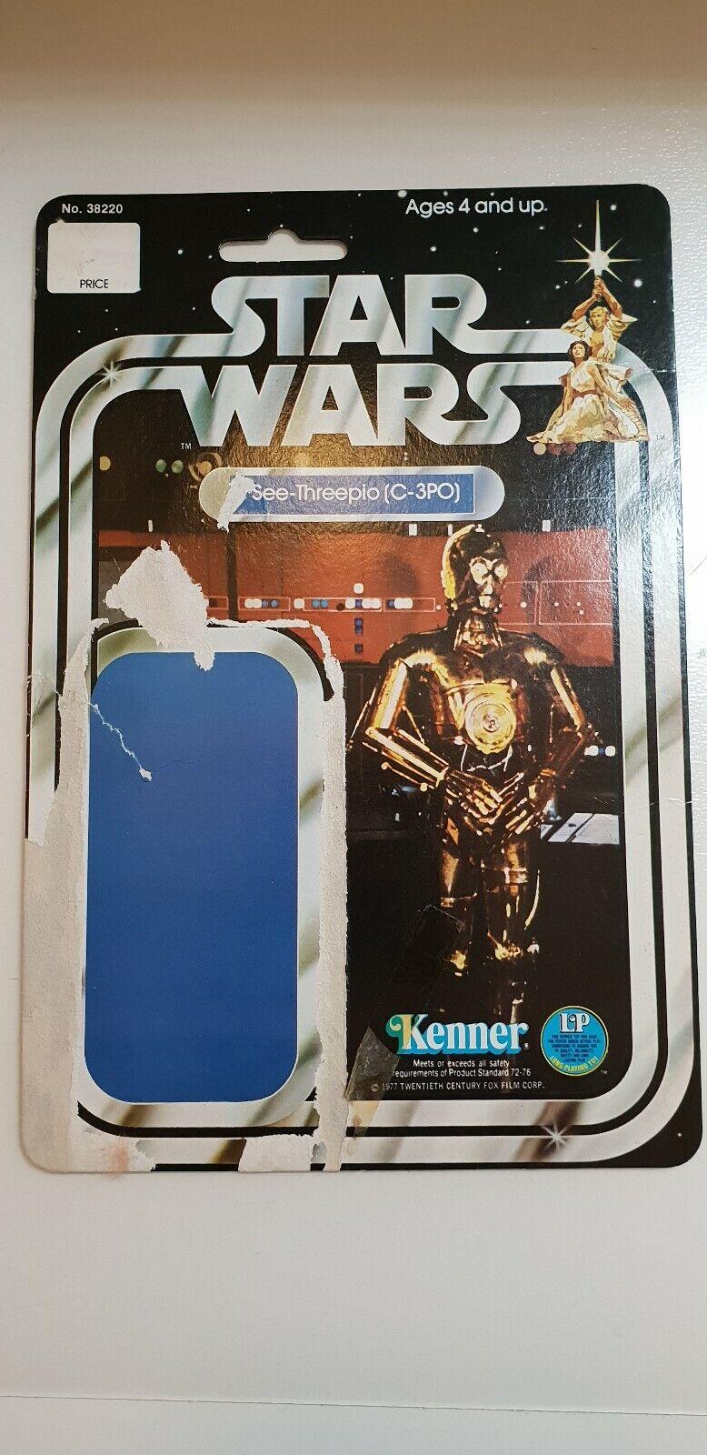 Vintage star wars kenner C3P0 12 back card cardback