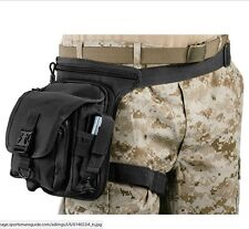 Hip Pouch Tactical - Thigh Strap and Conceal Carry Compartment, Black