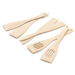 Pfannenwender Set Holz Küchenhelfer Camping Besteck Geschirr Kochen Spatula
