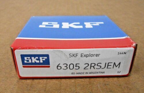 NIB SKF 6305 2RSJEM DEEP GROOVE BALL BEARING 25MM X 62MM X 17MM SEALED 14 AVAL