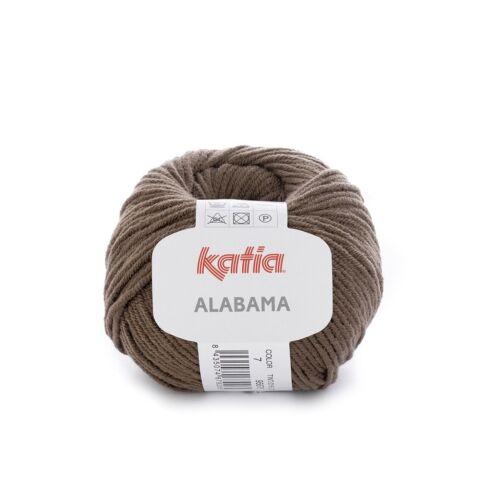7 ALABAMA von Katia MARRÓN - 50 g // ca 105 m Wolle