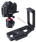 L- Verticale Piastra Sgancio Rapido Camera Stativo per testa a sfera Nikon D500