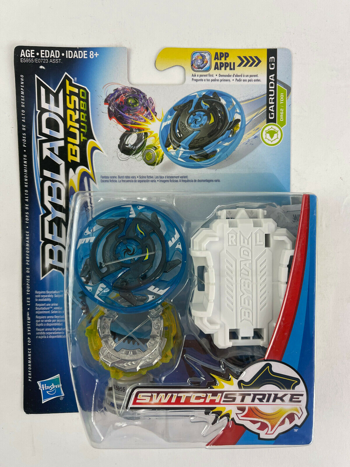 BEYBLADE SWITCH STRIKE  GARUDA G3 WITH LAUNCHER FREE SHIPPING IN THE USA