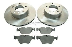 BMW-525D-525-E39-TOURING-ESTATE-2000-2003-Diesel-FRONT-2-BRAKE-DISCS-AND-PADS