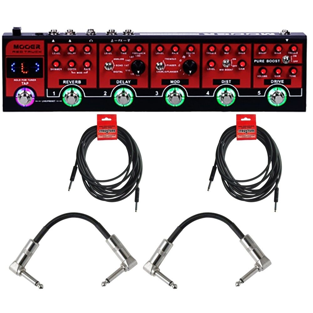 Mooer rot Truck Combines Distortion Overdrive Delay Guitar Effects Pedal +Cables