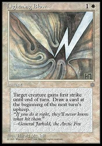 Coup fulgurant ▼▲▼ Lightning Blow Ice Age  #42 ENGLISH Magic MTG