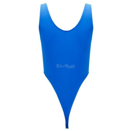 Spandex High Cut Bikini Thong Women Swimwear Leotard Bodysuit Swimsuit Beachwear