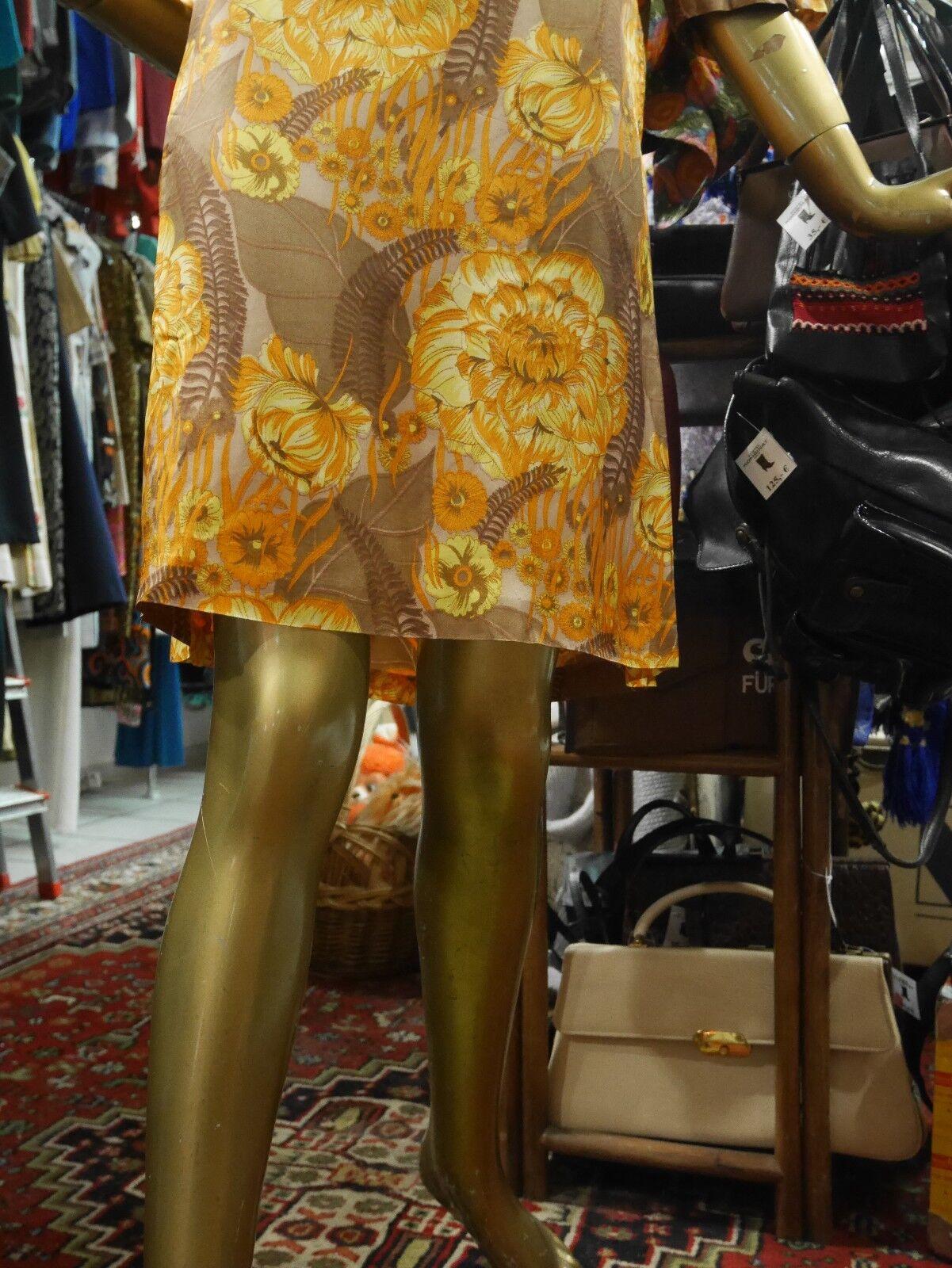 Berger Leipzig KLEID M M M 60er seidig floral Sommerkleid TRUE VINTAGE 60s MOD dress 48e760