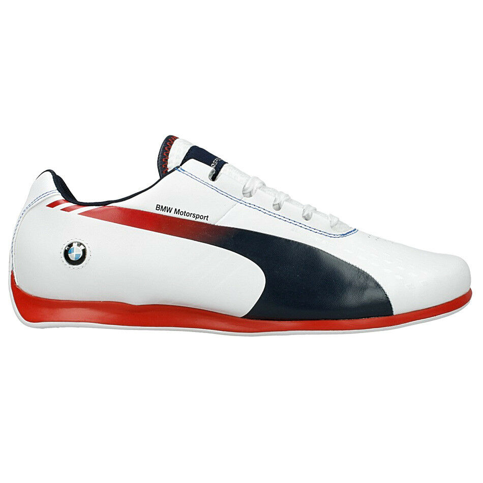 Puma BMW Ms Evo Speed 1.3 Ultra Shoes Motorsport Men White Shoes Leather Cat