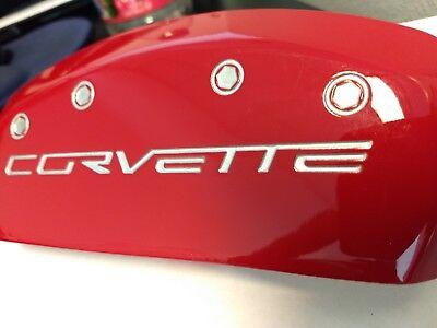 C6 Z06 /& Grand Sport Caliper Cover Set Red with Silver Corvette Script