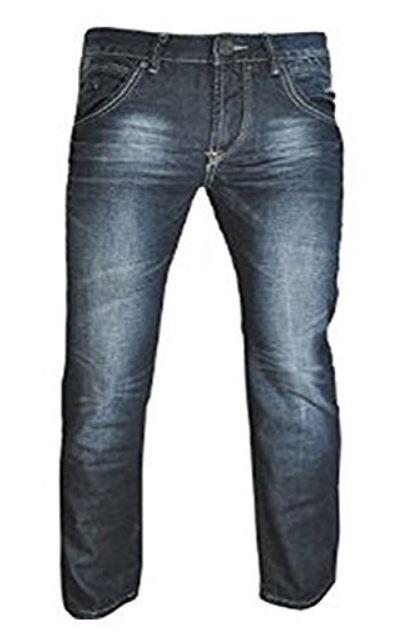 Aimable Nouveau Hommes Designer Crosshatch Mykola Coupe Droite Dark Wash Jeans Pour RéDuire Le Poids Corporel Et Prolonger La Vie
