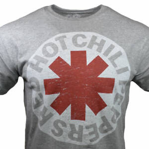 Red-Hot-Chili-Peppers-Men-039-s-T-shirt-RHCP-Vintage-NWoT-Gray-w-White-Logo