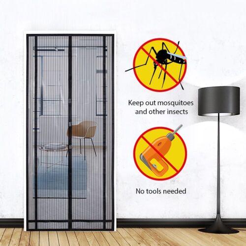 220x130cm Protection insectes Moustiquaire Magnétique Rideau moustiquaire moustiquaire
