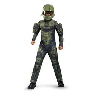 Details about Halo Master Chief Classic Kids Child Costume | Disguise 89968