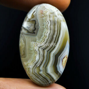 Cts-38-80-Natural-Laguna-Lace-Agate-Cabochon-Oval-Cab-Exclusive-Loose-Gemstone