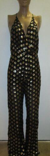 Punch gratuita Amazing Taglia Spedizione S Black Sleeveless Gold Jumpsuit Nwt Honey aZxqvRdwa