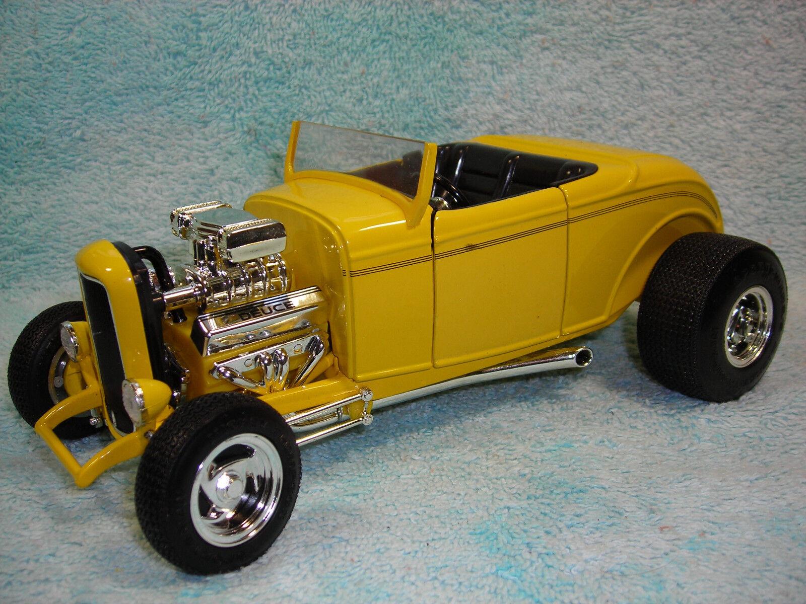 1   18 skala druckguss 1932 ford street rod in gelb von ertl amerikanische power.