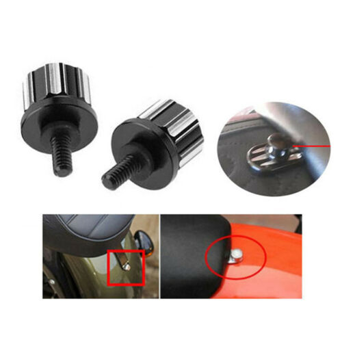 Motorcycle Seat Screw Bolt Nut Mount Knob Tab Covers For Harley 97-17 #1