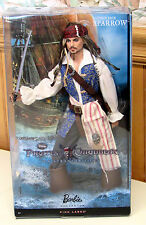 DISNEY PIRATES OF THE CARIBBEAN JACK SPARROW DOLL BARBIE PINK LABEL NEW NRFB