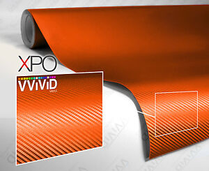 Orange-dry-carbon-fiber-20ft-x-5ft-car-wrap-vinyl-VViViD-XPO-cast-film-decal