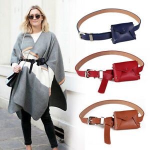 Leather Belt pouch bag purse