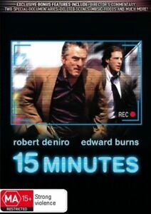 15 Minutes - ROBERT DE NIRO (DVD, 2007) R-4-NEW-FREE POST WITHIN AUSTRALIA