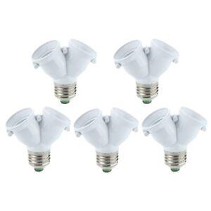 5-x-Doppellampen-Adapter-LED-Lampe-E27-Fassungen-S2J4