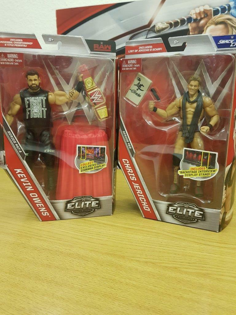 WWE Elite Kevin owens & Chris Jericho wrestling figures series 47a & 53