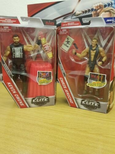 WWE Elite Kevin Owens /& Chris Jericho lucha Libre Figuras Serie 47a y 53