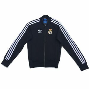 Détails sur Adidas Originals Veste de survêtement taille XS noir Real Madrid XS survêtement afficher le titre d'origine