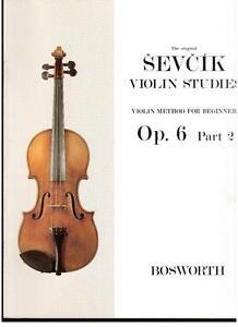 Sevcik: Studien Für Violine op.6 Teil 2 - Bosworth