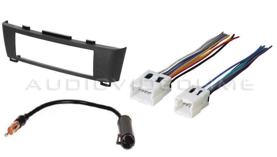 radio car stereo dash trim bezel mount install kit harness. Black Bedroom Furniture Sets. Home Design Ideas