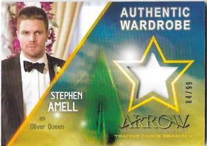 Cryptozoic-Arrow-4-Costume-Wardrobe-Relic-Card-Stephen-Amell-Oliver-Queen-M06-M6