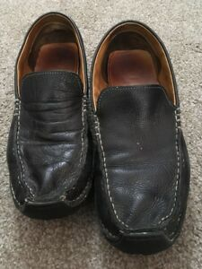 9103bb555a6 Image is loading Mens-Cole-Haan-Black-Leather-Slip-On-Loafers-