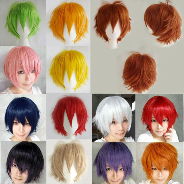 Real Soft straight Hair Wig Anime Cosplay