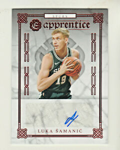 2019-20-Panini-Chronicles-EXCALIBUR-AUTO-RED-FOIL-LUKA-SAMANIC-RC-Rookie-Spurs