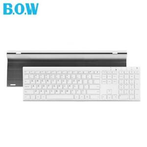Super-Thin-Metal-Wireless-Keyboard-Slim-Design-Rechargeable-Silent-Full-Size