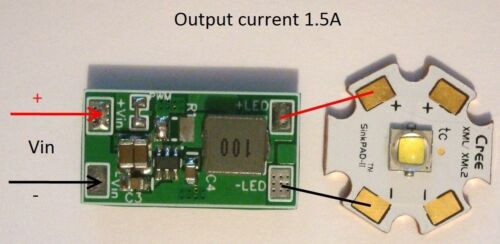 XP-L,XM-L,L2 1.5A XHP70 DC 5V-25V for XHP50 LED driverLDMINI- 1.5A