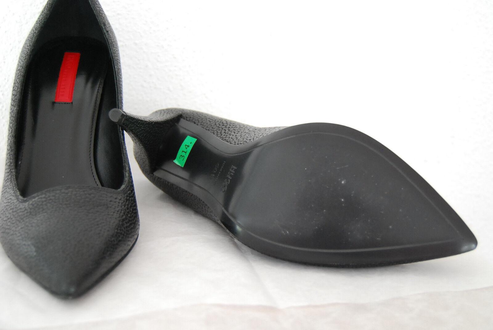 HUGO BOSS schwarz Pumps Gr.40,5 Neu Syria schwarz BOSS Schwarz ROT Leder ROT Label 5d3d17