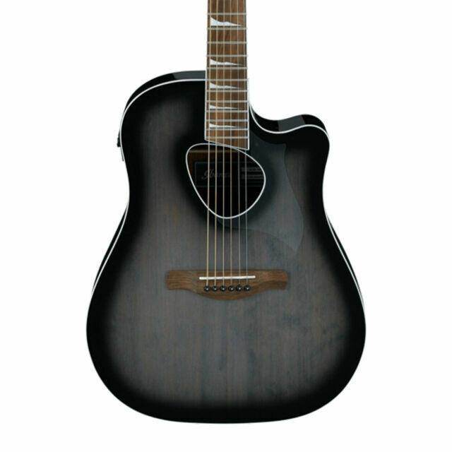 Ibanez Altstar Alt30 Acoustic Electric Guitar Transparent Charcoal Burst For Sale Online Ebay