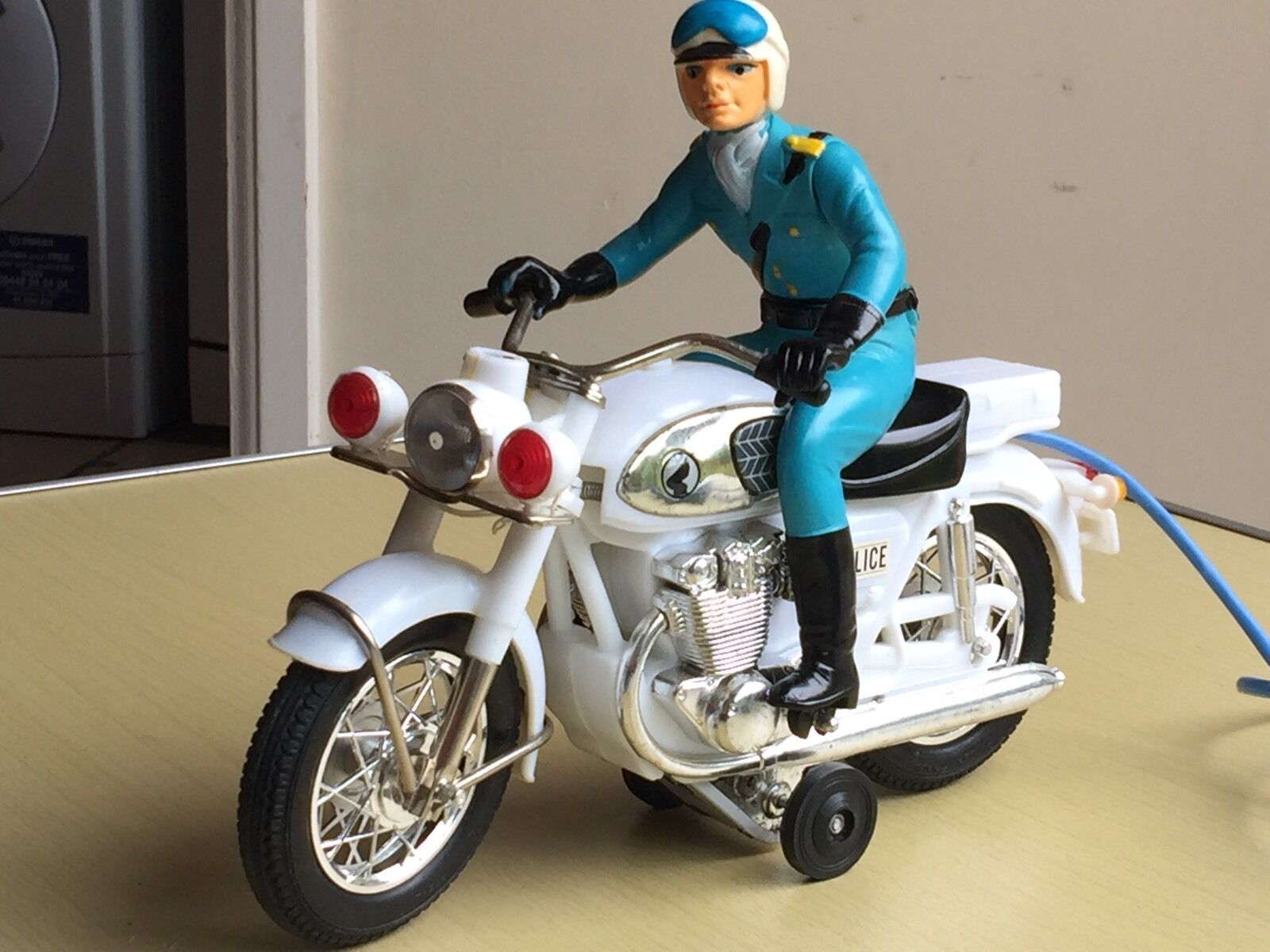 Vintage Bandai Japan Battery Operated Toy Police Patrol Motor Cycle