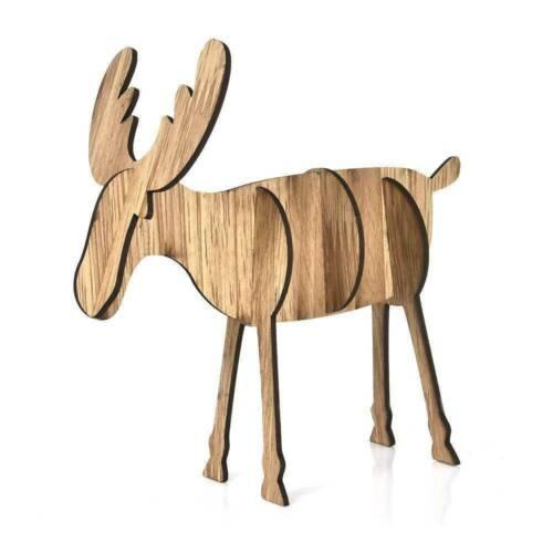 Cute Elk Xmas Tree Wooden Ornaments Christmas Party DIY Crafts XMAS Decoration
