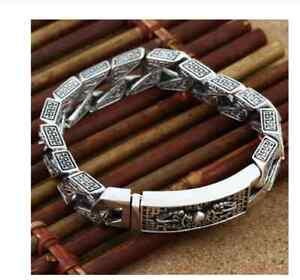 NEU  Herren Armband echt Silber 925er Panzerarmband Armkette