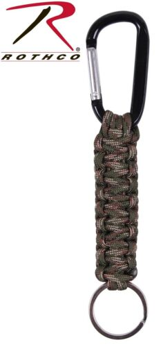 9803 Paracord /& Clip Survival Keychain Rope With Carabiner Rothco 9808-9179